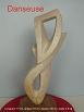 sculpture abstraite en stéatite nommée danseuse