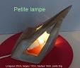 sculpture abstraite en stéatite nommée `petite lampe`