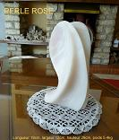 photo de la sculpture en st�atite dite perle rose, de couleur rose translucide